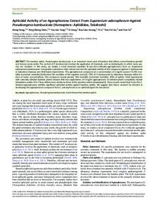 Homoptera: Aphididae - Oxford Journals - Oxford University Press