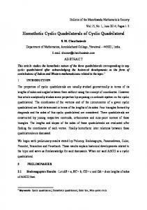 Homothetic Cyclic Quadrilaterals of Cyclic Quadrilateral