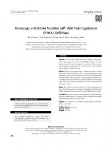 Homozygous Ala65Pro Mutation with V89L ... - Semantic Scholar