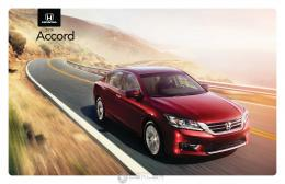 Honda 2014 Accord Brochure