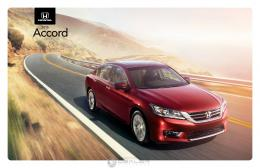 Honda 2015 Accord Brochure