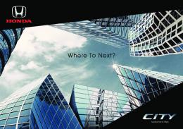 Honda City Brochure