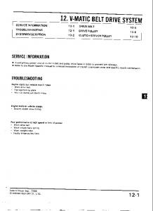 Honda Common Service Manual - Honda XL