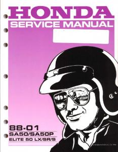Honda SA50 Service Manual - Hondaspree.net