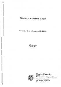 Honesty in Partial Logic - CiteSeerX