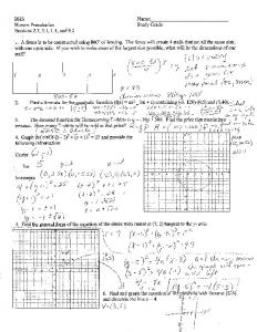 Honors Precalculus Study Guide - the District87 WordPress server. If ...
