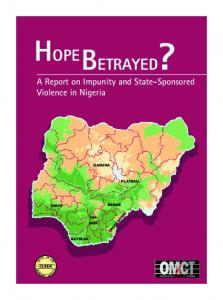 Hope Betrayed? - World Organisation Against Torture
