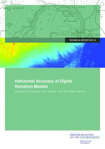 Horizontal Accuracy of Digital Elevation Models
