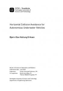 Horizontal Collision Avoidance for Autonomous