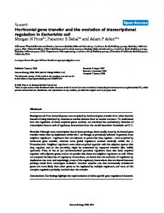 Horizontal gene transfer and the evolution of ... - BioMedSearch