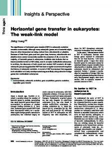 Horizontal gene transfer in eukaryotes: The weaklink ... - BioMedSearch