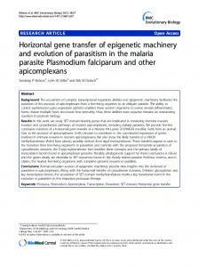 Horizontal gene transfer of epigenetic machinery and ... - BioMedSearch