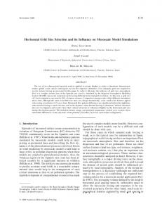 Horizontal Grid Size Selection and its Influence on Mesoscale Model ...