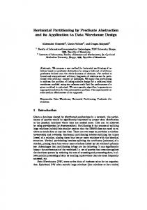 Horizontal Partitioning by Predicate Abstraction and its Application to ...