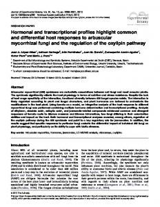 Hormonal and transcriptional profiles highlight common and ...