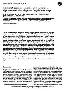 Hormonal responses to exercise after partial sleep deprivation and ...