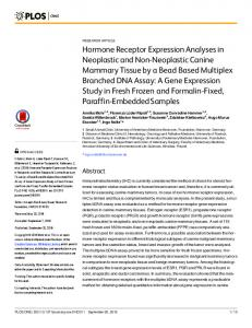 Hormone Receptor Expression Analyses in