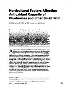 Horticultural Factors Affecting Antioxidant Capacity of Blueberries and ...