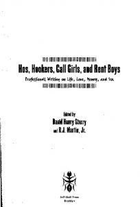 Hos, Hookers, Gall Girls, and Rent Boys