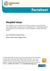 Hospital care in England: What you need to know ... - HousingCare.org