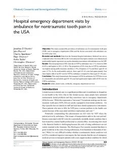 hospital emergency department visits by