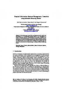 Hospital Information Systems Management: Towards ...