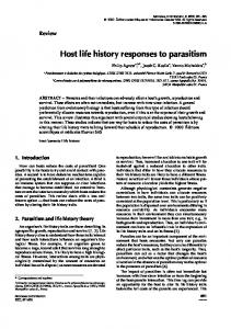 Host life history responses to parasitism - Mivegec - IRD