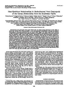 Host-Symbiont Relationships in Hydrothermal Vent Gastropods of the ...
