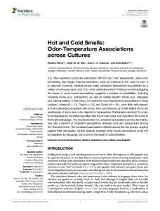 Hot and Cold Smells: Odor-Temperature