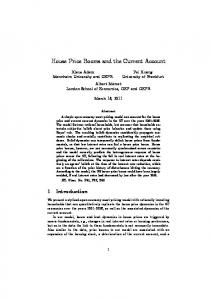 House Price Booms and the Current Account - National Bureau of ...