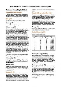 HOUSE RULES FOR WFRP 2nd EDITION 27 February ... - Penumbra