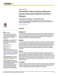 Household Contact Screening Adherence among ... - Semantic Scholar