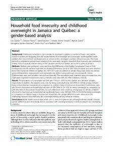 Household food insecurity and childhood