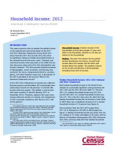 Household Income: 2012 - Census Bureau