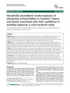 Household secondhand smoke exposure of ... - Semantic Scholar