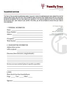 household services - Family Tree Care Services