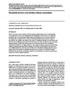 Household structure and infectious disease ... - Semantic Scholar
