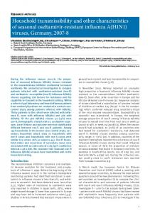 Household transmissibility and other ... - Semantic Scholar