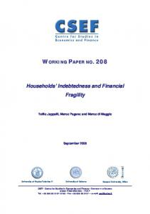Households' Indebtedness and Financial Fragility