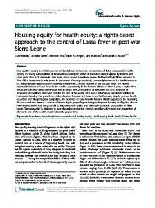 Housing equity for health equity: a rights-based ... - ScienceOpen