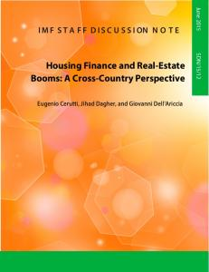 Housing Finance and Real-Estate Booms - IMF