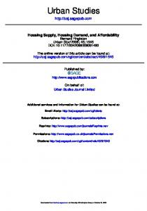 Housing supply, housing demand, and affordability