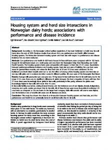 Housing system and herd size interactions in Norwegian dairy herds ...