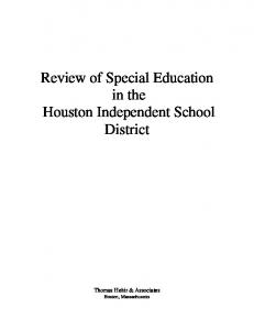 Houston Independent School District - Houston ISD