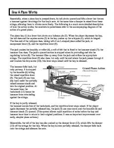 How a Piano Works (pdf) - Piano Technicians Guild