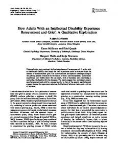 How Adults With an Intellectual Disability Experience ...