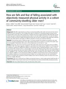 How are falls and fear of falling associated with ... - Semantic Scholar