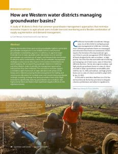 How are Western water districts managing ...