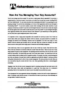 How Are You Managing Your Key Accounts - Richardson ...