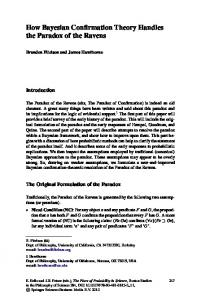 How Bayesian Confirmation Theory Handles the Paradox of the ...